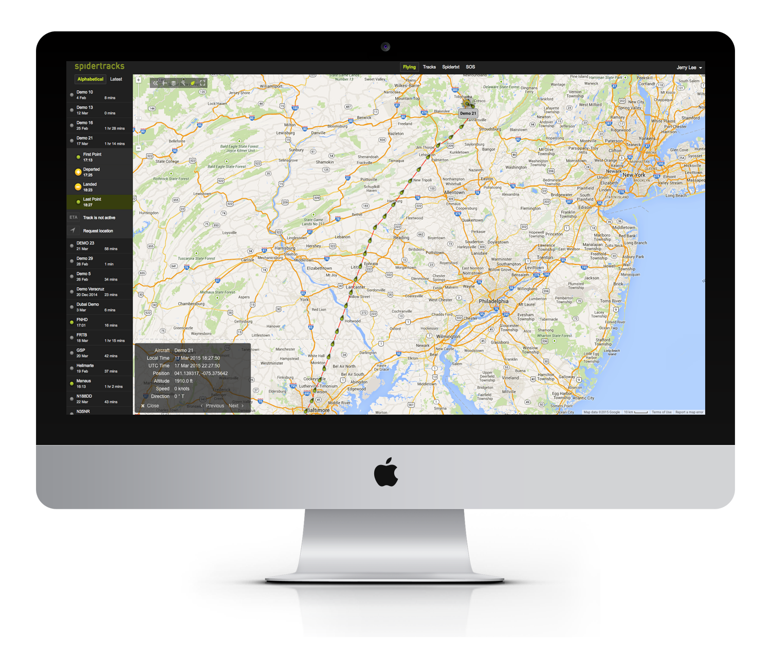 Spidertracks Tracking Platform   Real-time Aircraft Tracking