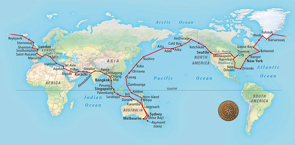 The Voyage of the Southern Sun: Circumnavigating the World with Spidertracks