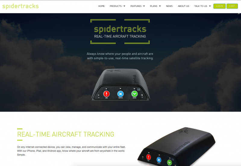 Spidertracks Unveils New Website For Changing Audience